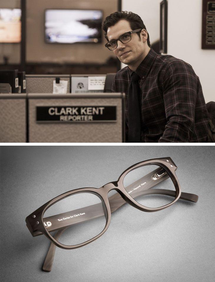 3d939115fa Clark Kent wears Tom Davies designed eyewear in Batman vs. Superman (2016)